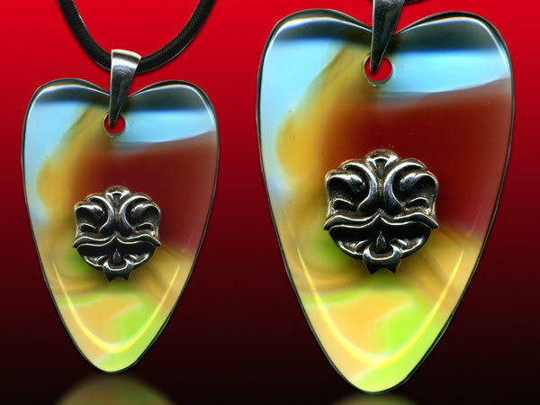 鹿港窯~開運古法水晶琉璃銀飾項鍊~大愛 附精美包裝◆免運費送到家
