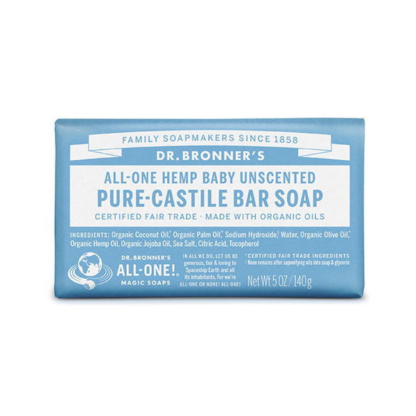 DR.BRONNER'S【布朗博士】 溫和嬰兒潔膚皂(5OZ/140G)