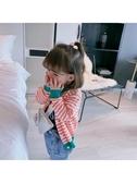 兒童毛衣香港靚妞 女童毛衣小童秋裝寶寶洋氣針織開衫外套兒童純棉針織衫 限時特惠