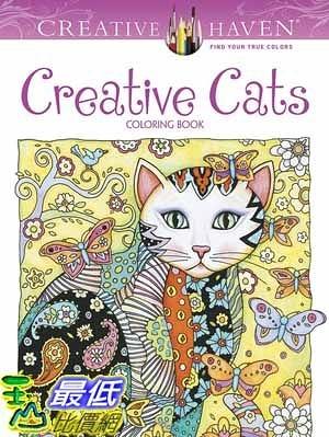 [104美國直購] 2015 美國暢銷書排行榜 Creative Haven Creative Cats Coloring Book
