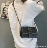 斜背包 新款迷你小包包女韓版ins超火斜背包chic鍊條復古百搭小方包  艾美時尚衣櫥