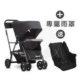 【贈第二座椅】Joovy Caboose Ultralight Graphite 新款輕量級雙人推車(黑)+專用雨罩