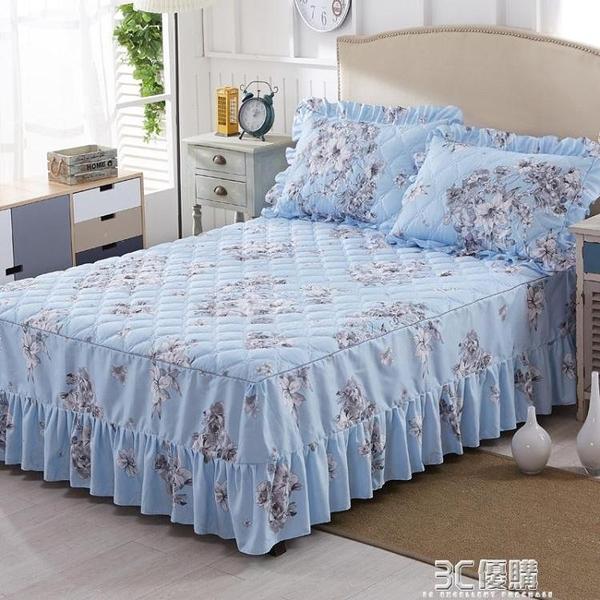 涵月席夢思床裙床罩夾棉床套單件保護套韓式公主床單床笠1.5米1.8 聖誕節全館免運