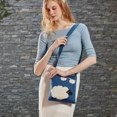 數綿羊針織斜背包