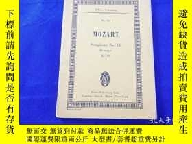 二手書博民逛書店MOZART罕見SYMPHONY NO.33 BB MAJOR