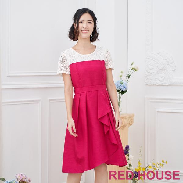 【RED HOUSE 蕾赫斯】蕾絲拼接洋裝