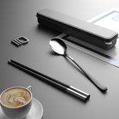 (快出) 筷子勺子套裝學生叉子單人便攜帶收納木質旅行兒童盒餐具三件套