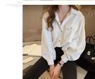 新款秋冬長袖襯衫外套淨色舒適幹淨簡潔百搭3F035.7077依品國際