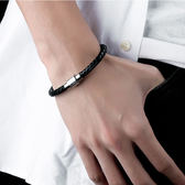 【5折超值價】經典簡約個性經文造型皮手環