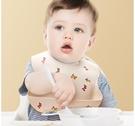 飯兜 寶寶吃飯圍兜嬰兒食飯兜防水圍嘴硅膠超軟口水兜兒童小孩防臟神器 618狂歡