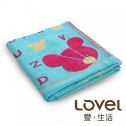 里和Riho LOVEL日雜塗鴉可愛小熊紗布毛巾 33x75cm 3色可選 哺乳巾 紗布巾