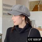 [現貨]帽子 秋冬保暖 毛呢八角帽 報童...