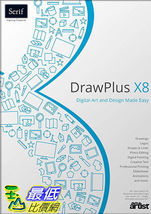 [7美國直購] 2018 amazon 亞馬遜暢銷軟體 US Serif Software DrawPlus X8