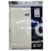 HENIS 純棉短袖U領衫(HS504)-白 L