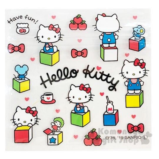 〔小禮堂〕Hello Kitty 方形透明夾鏈袋組《S.6入.白》分類袋.糖果袋.銅板小物 4904555-05530