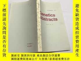 二手書博民逛書店Genetics罕見Abstracts(英文)遺傳學文摘1985年第17卷第11期Y383796 出版1