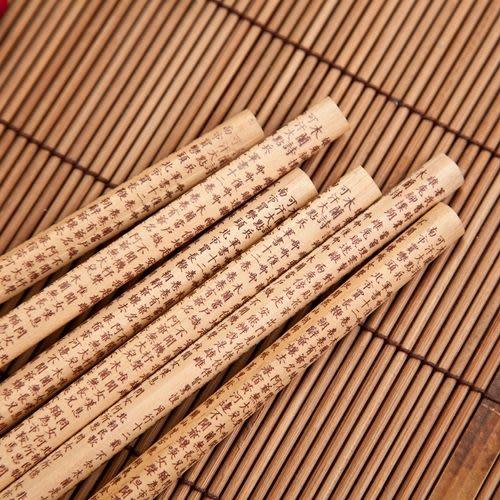 玉兔 木蘭詩大三角原木鉛筆(6支裝)