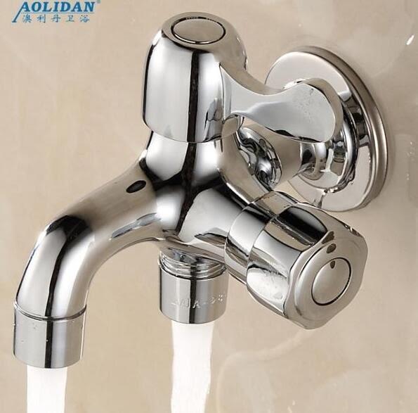 水龍頭全銅單冷雙用多功能洗衣機拖把池水嘴雙頭多用 愛麗絲精品
