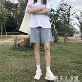 五分牛仔褲女年新款中褲夏季寬鬆直筒港味高腰顯瘦短褲5分潮 母親節禮物