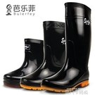 芭樂菲雨鞋男短筒雨靴防水鞋加棉防滑中高筒工作洗車釣魚膠鞋水靴 依凡卡時尚