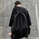 尼龍後背包2020新款韓版ins多功能街頭休閒水桶包情侶雙肩包尼龍書包男女潮 伊蒂斯