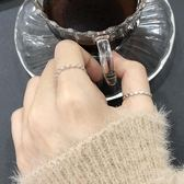 飾悟銀飾 菱形水晶開口戒指女日韓潮人學生指環 戒指男純銀食指戒 沸點奇跡