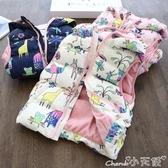 兒童馬甲童裝秋冬季兒童新款馬甲女童棉服加絨加厚女寶寶背心馬夾外穿 新年禮物