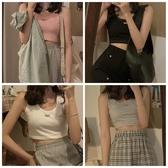 jmwomen 短款吊帶背心女夏韓版修身無袖氣質顯瘦內搭美背打底上衣 貝芙莉