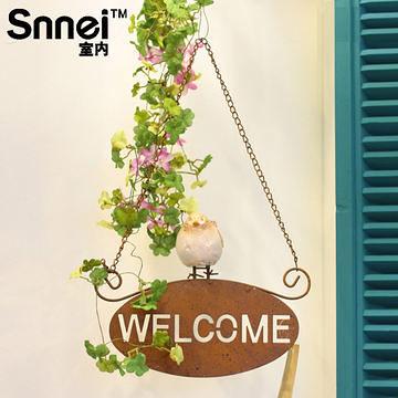 小鳥鐵藝門牌  Welcome
