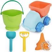 兒童沙灘玩具車大號鏟子桶套裝挖沙子玩沙寶寶戲水洗澡決明子工具 XW