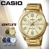 CASIO 手錶專賣店 CASIO 手錶 MTP-VX01G-9B 男錶 指針錶  金色離子鍍錶帶 防水 礦物玻璃