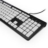 電腦鍵盤台式機 有線辦公用家用游戲打字筆記本USB接口薄膜 WY【全館鉅惠85折】