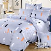 夢棉屋 柔絲絨 單人薄床包枕套二件式 「森林秘密」 學生/宿舍/套房
