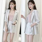 OL套裝 女夏2018新款時尚休閒小香風兩件式職業裝 GY1045『伊人雅舍』