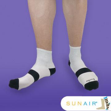 sunair 滅菌除臭襪子-運動薄襪 短筒 (L25~29) (白+黑) /SA3003