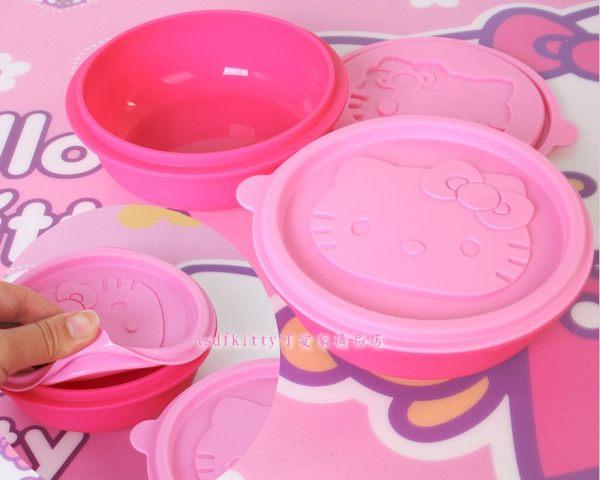 廚房【asdfkitty】KITTY2入矽膠圓型保鮮盒-可入烤箱.微波爐.可蒸-韓國版
