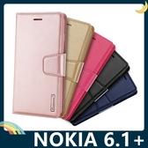NOKIA 6.1 Plus Hanman保護套 皮革側翻皮套 簡易防水 帶掛繩 支架 插卡 磁扣 手機套 手機殼 諾基亞