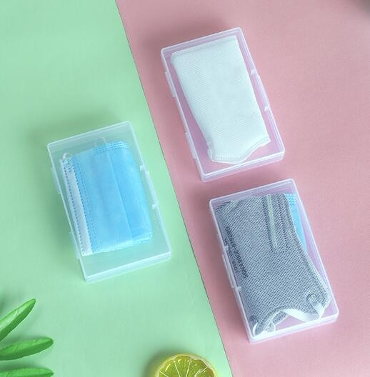 一次性KN95口罩暫存盒收納彩色盒小巧隨身便攜神器防水收納盒N95 格蘭小舖