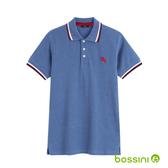 彈性立領POLO衫03海軍藍-bossini男裝