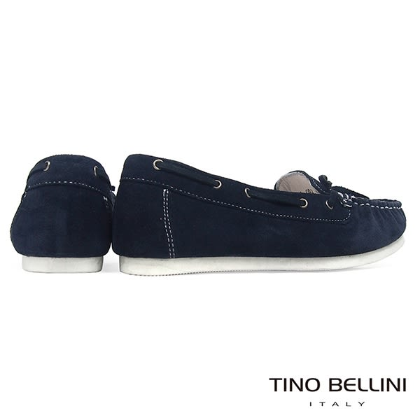 Tino Bellini 麂皮手感自然休閒風格帆船鞋 _ 深藍 A83064