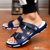 拖鞋男士涼鞋一字拖男新款韓版潮流時尚浴室內外穿兩用涼拖鞋防滑 露露日記