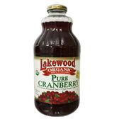 有機純蔓越莓汁(每瓶946毫升) – Lakewood Organic湖邊大樹