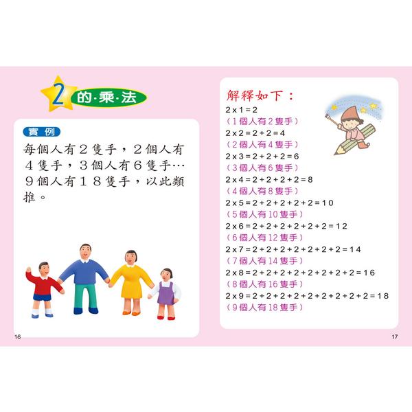 大家來學九九乘法(彩色精裝書+CD)