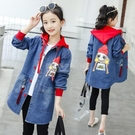 女童牛仔外套中長款洋氣2020新款春秋女孩韓版女大童風衣12-15歲6 設計師生活百貨