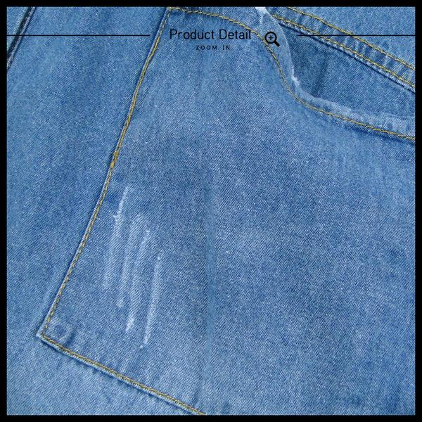 Melek 襯衫類 (共2色) 現貨【B12170111-0401~02】女長襯牛仔二大袋款 牛仔襯衫/長袖襯衫