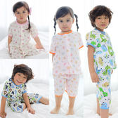Augelute 居家系列 短袖純棉卡通印花紗布套裝 51008