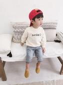 連帽T恤寶寶連帽T恤男1一3歲男童潮小童圓領套頭衫小孩字母上衣 蓓娜衣都
