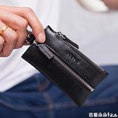 卡包鑰匙包 汽車鑰匙包男簡約實用大容量多功能頭層牛皮創意腰掛車鎖匙包 芭蕾朵朵