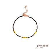 J'code真愛密碼 獨特 黃金/尖晶石手鍊-單鍊款