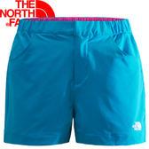 【The North Face 女 SCafe短褲 地球藍】 NF00CZR4/短褲/休閒短褲★滿額送